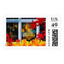 Autumn Hanukkah / Chanukah Postage Stamps