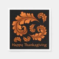 Autumn Happy Thanksgiving Napkin