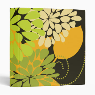 Autumn Harvest Abstract Floral Nature Fine Art Binder