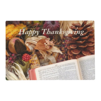 Autumn Harvest and Bible Placemat