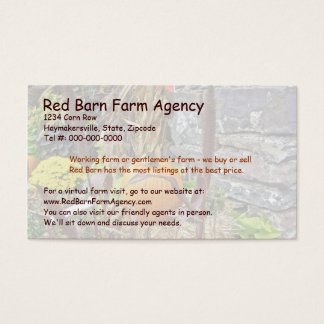 Autumn Harvest Bounty Business Card