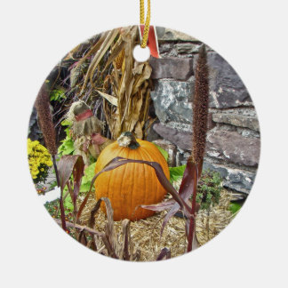 Autumn Harvest Bounty Ceramic Ornament
