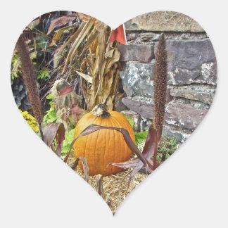 Autumn Harvest Bounty Heart Sticker