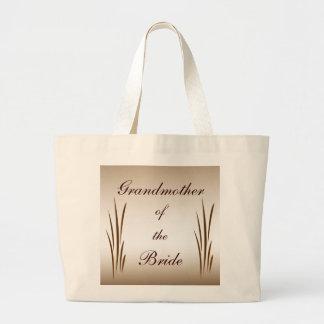 Autumn Harvest Grandmother of the Bride Jumbo Tote Bag
