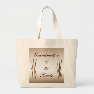Autumn Harvest Grandmother of the Bride Large Tote Bag