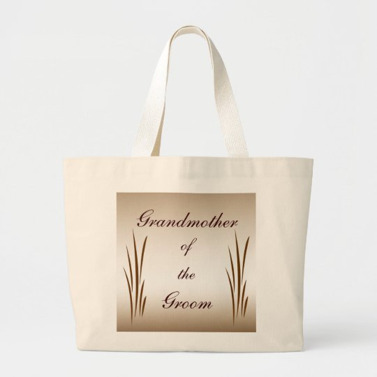 Autumn Harvest Grandmother of the Groom Large Tote Bag