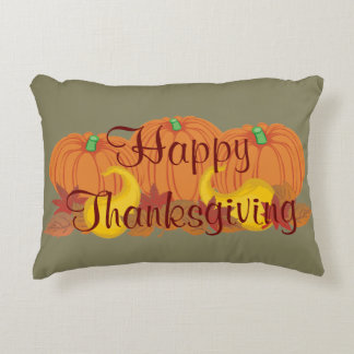 Autumn Harvest Happy Thanksgiving Accent Pillow