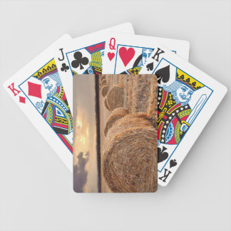 Autumn Harvest Hayfield Photography Playing Cards