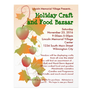 Autumn Harvest Holiday Craft Bazaar Flyer
