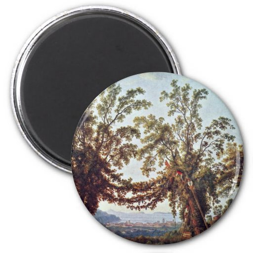 Autumn: Harvest In Sorrento By Jacob Philipp Hacke Magnets