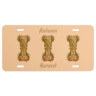 Autumn Harvest License Plate License Plate