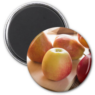 Autumn harvest of apples and pears magnet
