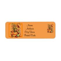 Autumn Harvest Orange Return Address Labels