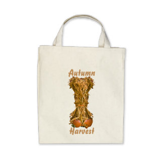 Autumn Harvest Organic Grocery Tote Canvas Bags