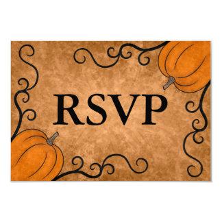 Autumn harvest pumpkin Thanksgiving RSVP Card