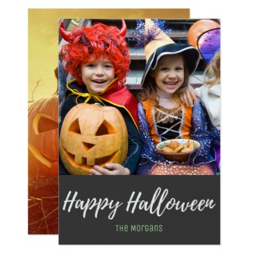 Halloween Themed Autumn Harvest Pumpkins Happy Halloween Photo Card