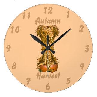 Autumn Harvest Round Wall Clock Wall Clock