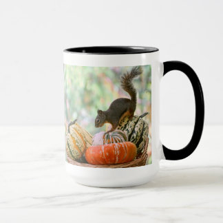 Autumn Harvest Squirrel Mug
