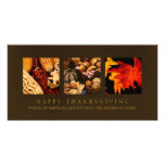 Autumn Harvest Thanksgiving Blessings photocard Picture Card