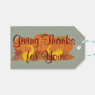 Autumn Harvest Thanksgiving Pack Of Gift Tags
