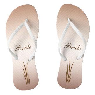 Autumn Harvest Wedding Bride Flip Flops