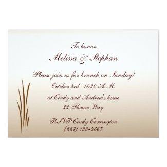Autumn Harvest Wedding Brunch 5x7 Paper Invitation Card