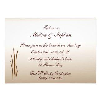 Autumn Harvest Wedding Brunch Invite