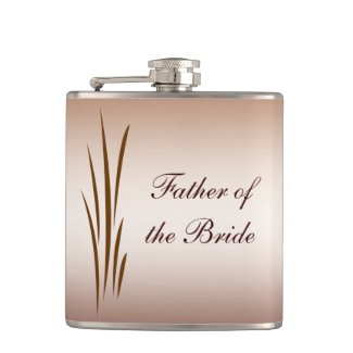 Autumn Harvest Wedding Father of the Bride Hip Flask
