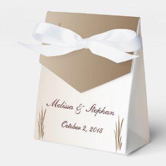Autumn Harvest Wedding Favor Box