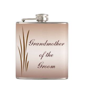 Autumn Harvest Wedding Grandmother of the Groom Flask
