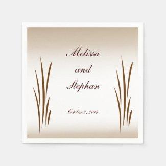 Autumn Harvest Wedding Napkins