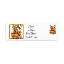 Autumn Harvest White Return Address Labels