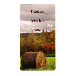 Autumn Harvest Wine Label