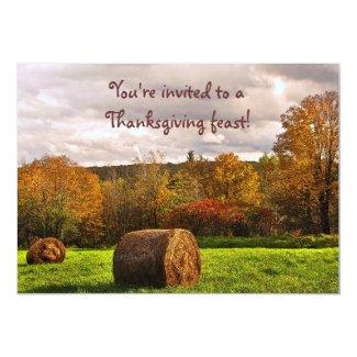 Autumn Hay Harvest Thanksgiving