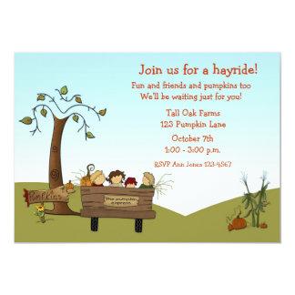 Autumn Hayride, Cart, Kids Card