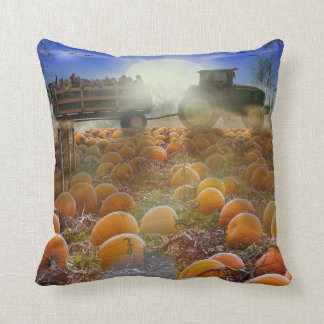 "Autumn Hayride Throw Pillow 16"" x 16"""