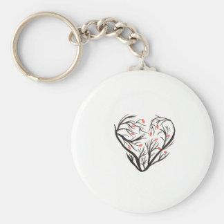 Autumn Heart Keychain