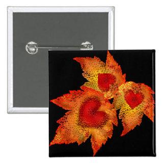 Autumn Hearts Black Button