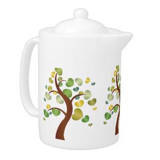 Autumn Hearts Tree Teapot