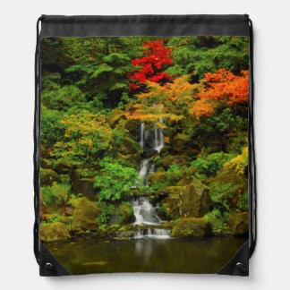 Autumn, Heavenly Falls Drawstring Bag
