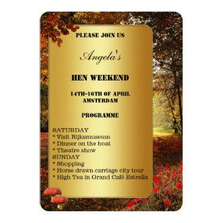 Autumn Hen Weekend Programme Template Invitation
