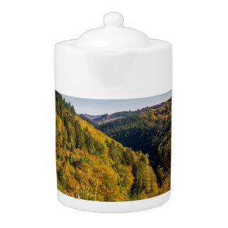 Autumn Hills Landscape, Colorful Foliage
