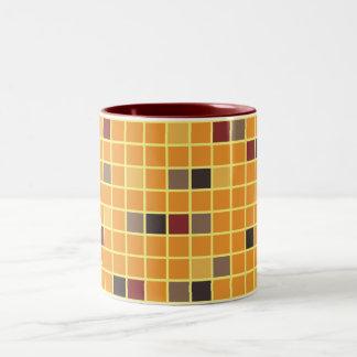 Autumn Holiday Squares Mug