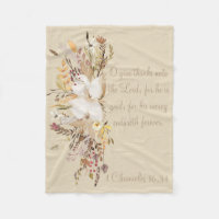 Autumn Home Collection Scripture Throw Fleece Blanket