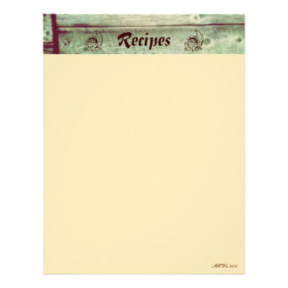 Autumn Home Recipe Pages Customized Letterhead