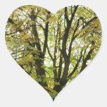Autumn Horse Chestnut Tree Heart Sticker