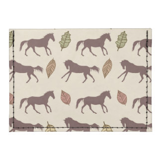 Autumn Horses and Leaves Card Wallet