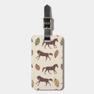 Autumn Horses and Leaves Tag For Luggage
