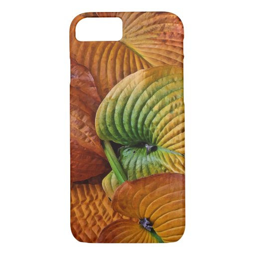 Autumn Hosta Leaves Abstract iPhone 8/7 Case