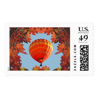 Autumn Hot Air Balloon Postage Stamp